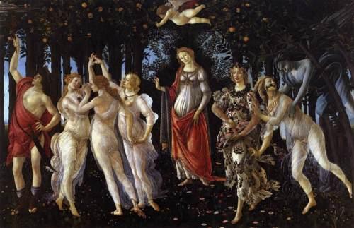 Botticelli Primavera wga.hu Web Gallery Art