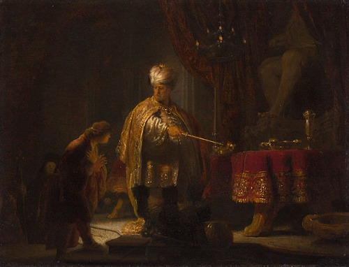 Rembrandt - Daniel And Cyrus Before The Idol Bel_ 1633