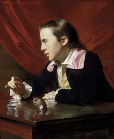 John Singleton Copley's A Boy with a Flying Squirrel, 1765 Oil on canvas