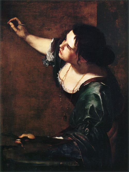Self-portrait as the Allegory of Painting by Artemisia Gentileschi-  (La Pittura), 1638-39